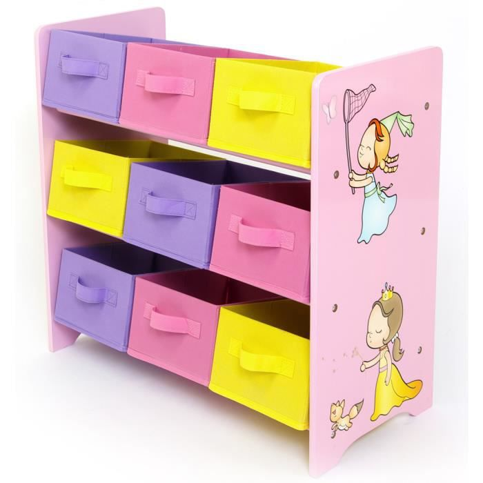 meuble de rangement pour enfant motif princesse achat. Black Bedroom Furniture Sets. Home Design Ideas