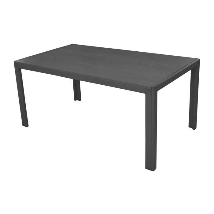 Table de jardin en aluminium 160x90x74cm gris mt achat vente table de ja - Table jardin cdiscount ...
