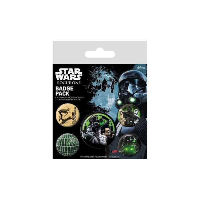 Pyramid International - Star Wars Rogue One - Pack 5 badges Empire