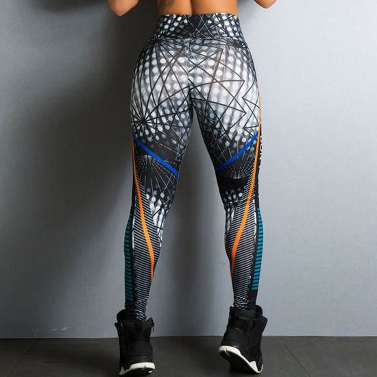 Stretch Leggings Femmes Motif Yoga Sport Pleine Longueur Taille Femme Été Motif Floral