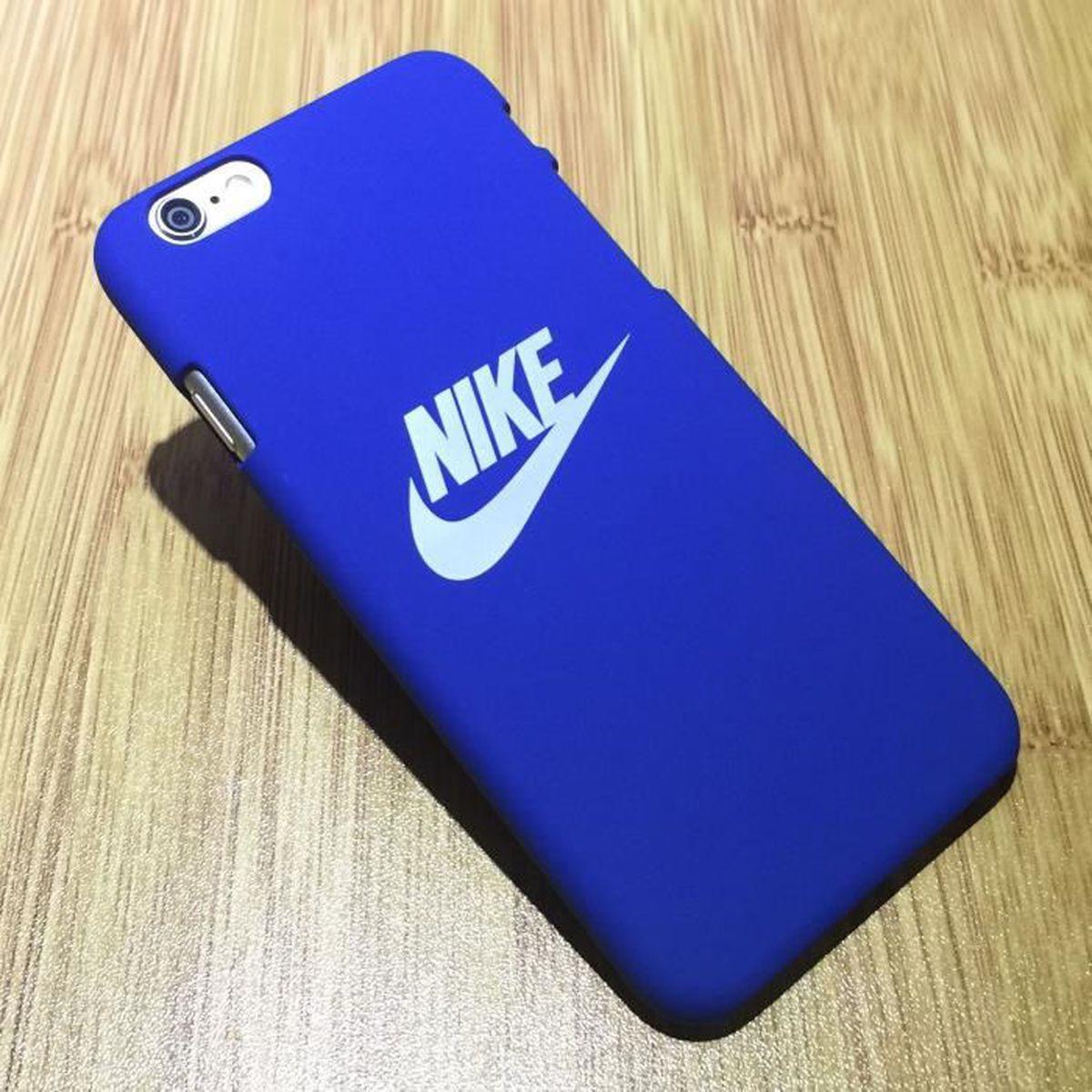 coque nike noir pour iphone 6 6s plus bleu