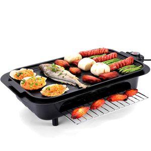PLANCHA DE TABLE Plancha Electrique et grill 2 en 1 Noir