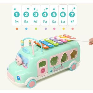 BOÎTE À FORME - GIGOGNE Bus et animaux en bois avec trieur de forme de xyl