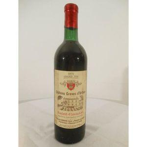 VIN ROUGE saint-émilion château graves d'arthus rouge 1970 -