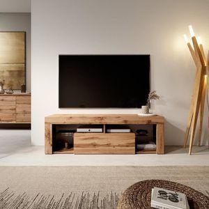MEUBLE TV Meuble TV / Banc TV - HUGO - 140 cm - chêne lancas