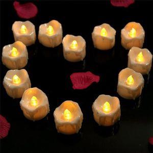 Déco DEL 13 cm haut Cire Bougies bougies à cire véritable veilleuse en Ivoire