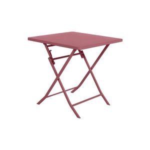 TABLE DE JARDIN  Table de jardin carrée Greensboro 70 x 70 cm Marsa