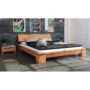 STRUCTURE DE LIT Lit 160 x 200 en bois massif naturel - Vinci Bas