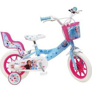 VÉLO ENFANT Vélo 12'' REINE DES NEIGES 2 avec 2 freins, panier