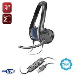 CASQUE AVEC MICROPHONE Plantronics casque micro USB Audio 628