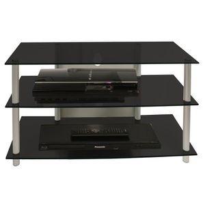 MEUBLE TV VCM 14125 Sindas Meuble TV Aluminium-Verre Argent-