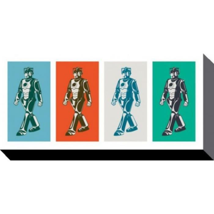 doctor who poster reproduction sur toile tendue sur ch ssis le r gne des cybermen pop art. Black Bedroom Furniture Sets. Home Design Ideas