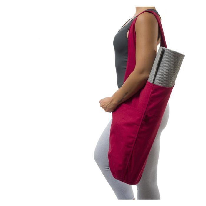 Porte-sac fourre-tout pour tapis de yoga avec grande poche latérale pour la plupart des tapis de taille ne3542