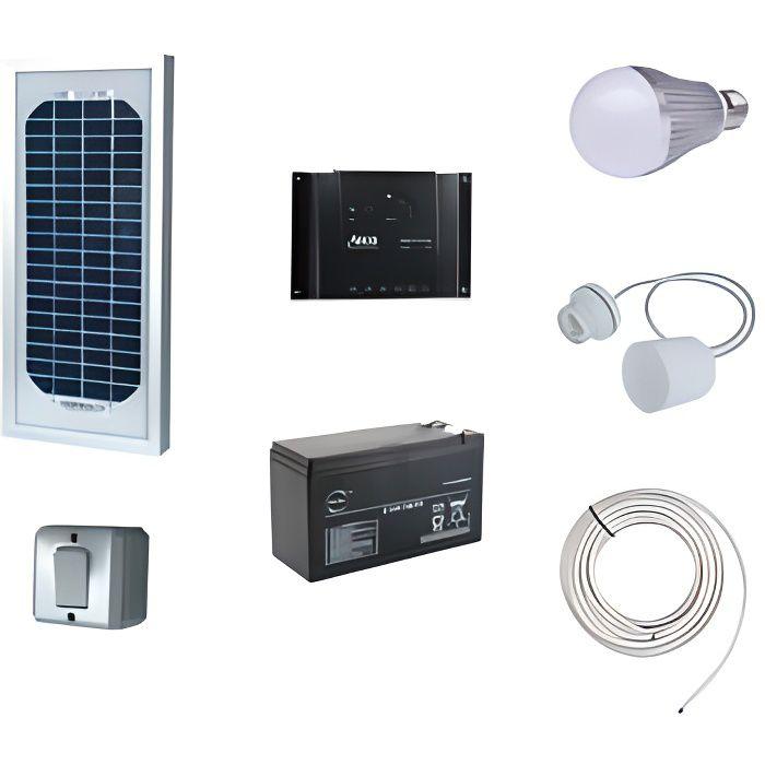 Kit eclairage interieur solaire 5W