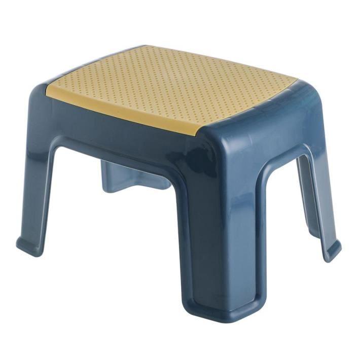 Tabouret bas antidérapant à 4 pieds pour bébé, meuble de bain en plastique pour enfant et adulte, Change de [B544C79]