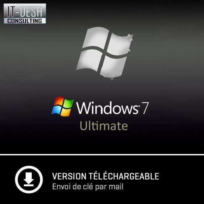 Windows 7 Intégrale 32/64 bit A Télécharger Cle D'activation Uniquement