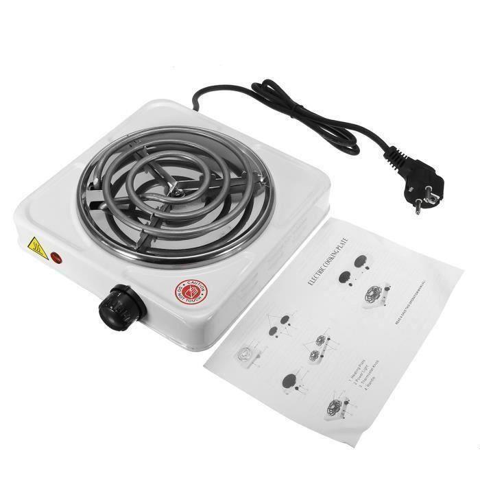 Plaque Posable Réchaud 1000W 5-Températures - Mini Brûleur Electrique à Café Thé Aliment Cuisson Réchauffer 220V co39913