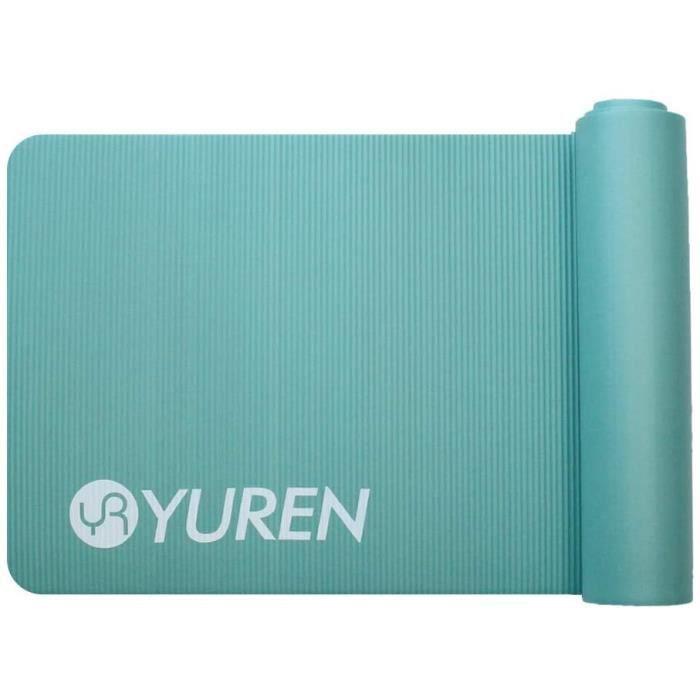 YUREN Tapis de Yoga Fitness 15mm Épais Pilates Sport Gym Débutant Yoga Tapis NBR Antidérapant 183×61cm avec Sac et Sangle de Yoga