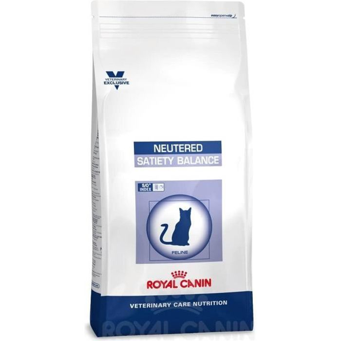 Royal Canin Veterinary Care Nutrition Cat Neutered Satiety Balance Nourriture pour Chat 446785