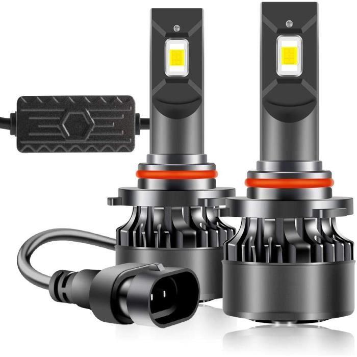 Ampoule de Phare 9005 HB3 LED 55W 6600 Lumen 6000K Blanc ETI Chips Super Brillant pour Voiture Feux de Route-de Croisement Rem[637]
