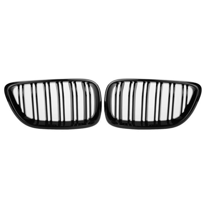 Drfeify Grille de pare-chocs avant pour BMW 1 paire de calandre de pare-chocs avant de Style noir brillant pour BMW série 2 F22 F23
