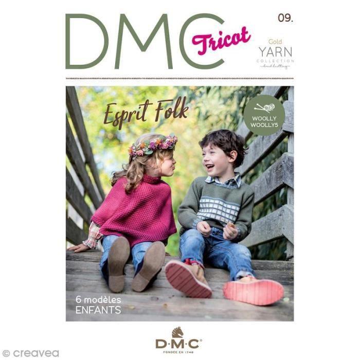 Catalogue tricot DMC - Woolly - Woolly 5 - 6 modèles enfants Livret de tutoriels et modèles à reproduire avec la laine Woolly /