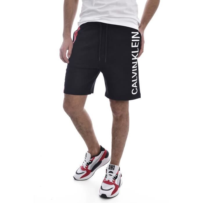 CALVIN KLEIN Sweat-shirt Stripe BAE Noir Homme
