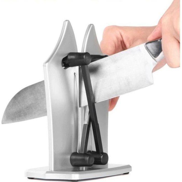 Aiguiseur à couteaux professionnel en acier, pour lames lisses et dentelées
