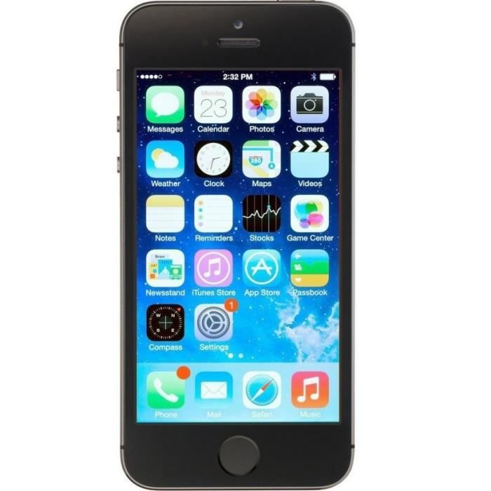 apple iphone 5s 64gb reconditionn a neuf gris achat. Black Bedroom Furniture Sets. Home Design Ideas