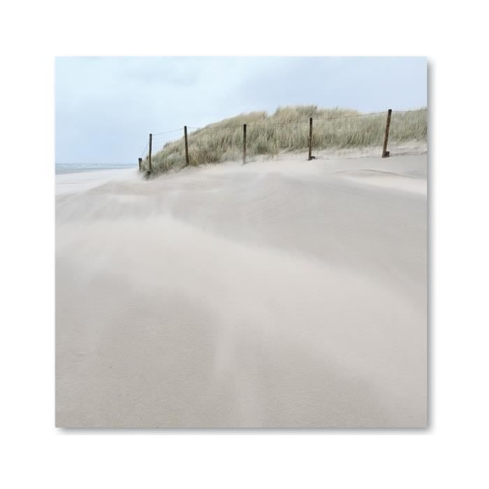 tableau photo sur toile theme mer plage dune achat vente tableau toile cdiscount. Black Bedroom Furniture Sets. Home Design Ideas