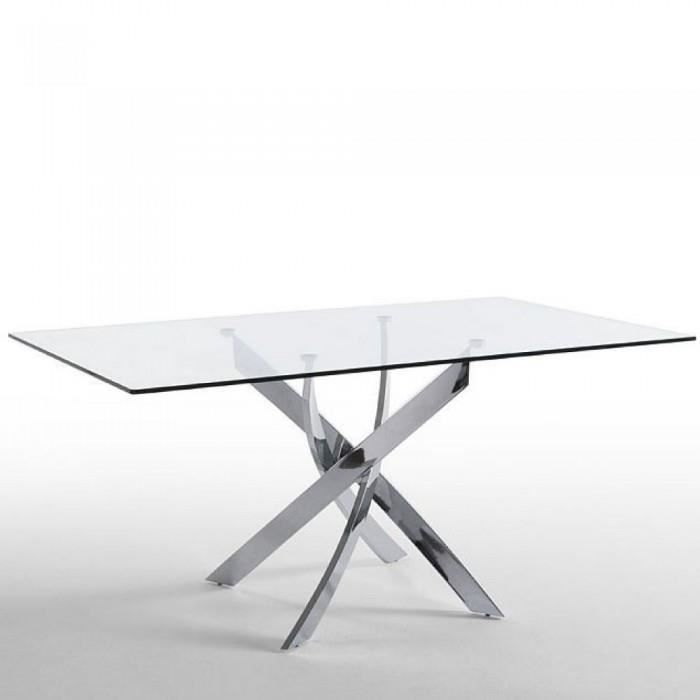 Table manger en verre design twined couleur t achat vente table a mang - Table a manger en verre design ...