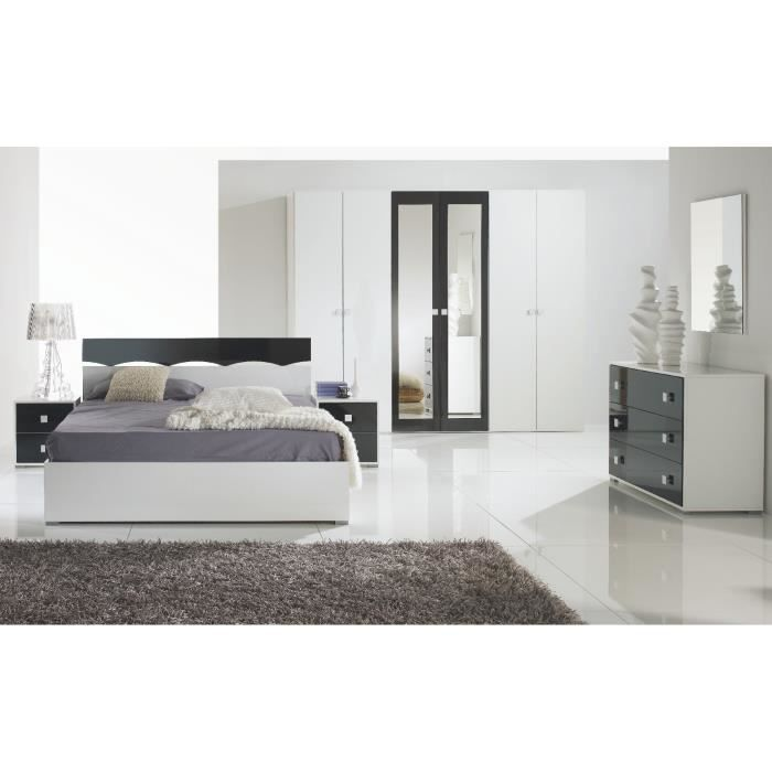 Chambre coucher laqu helen compl te achat vente chambre compl te chamb - Chambre a coucher cdiscount ...