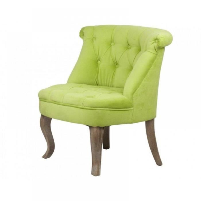fauteuil capitonn versailles vert achat vente. Black Bedroom Furniture Sets. Home Design Ideas
