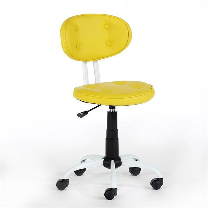 fauteuil de bureau enfant hauteur r glable jaune achat. Black Bedroom Furniture Sets. Home Design Ideas
