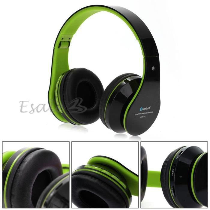 bluetooth st r o casque ecouteur oreillette headset mic. Black Bedroom Furniture Sets. Home Design Ideas