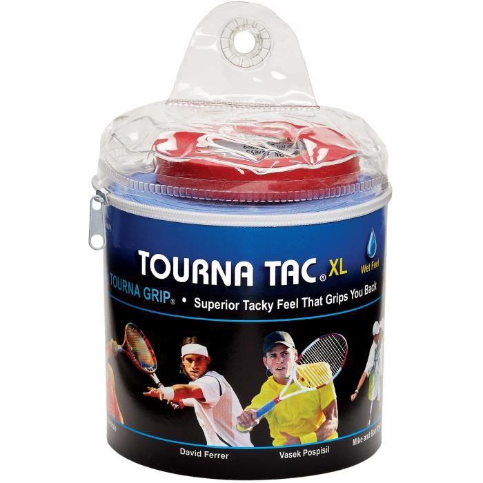 Lot de 3 surgrip pour raquette de tennis TOURNA TAC XL Bleu
