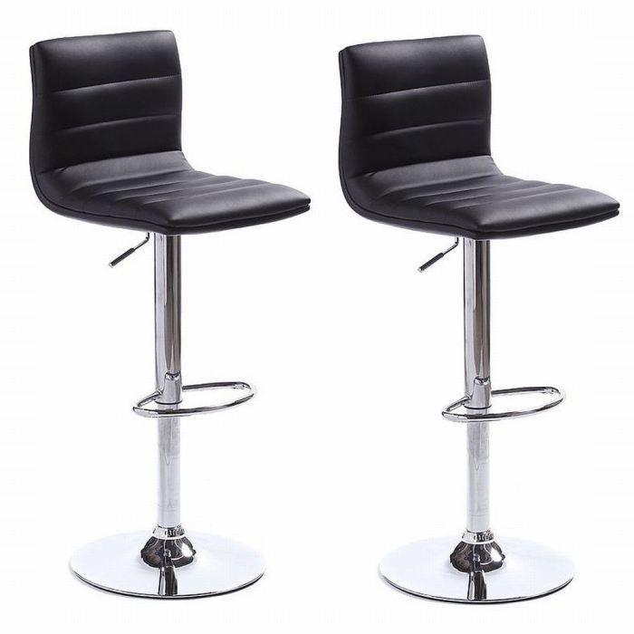 lot de 2 tabourets de bar billy noir achat vente tabouret de bar cdiscount. Black Bedroom Furniture Sets. Home Design Ideas