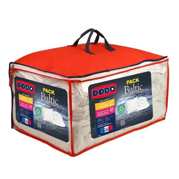 COUETTE DODO Pack BALTIC Couette & Oreillers - Anti-acarie