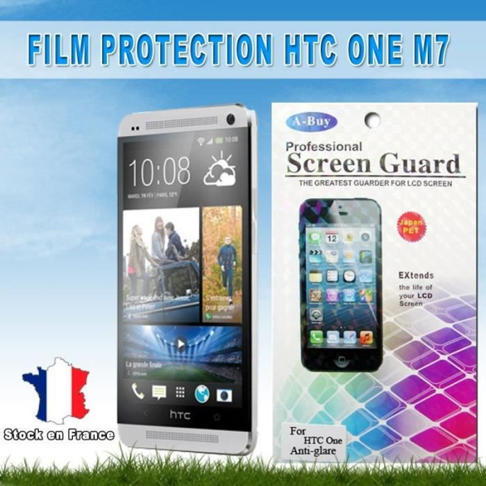 htc one m7 lots 2x film protection anti rayure anti reflets achat film protect t l phone pas. Black Bedroom Furniture Sets. Home Design Ideas