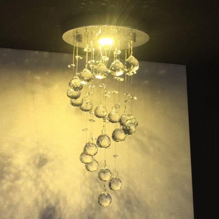 Lustre Plafonnier Cristal Style Moderne Pour Salle à Manger