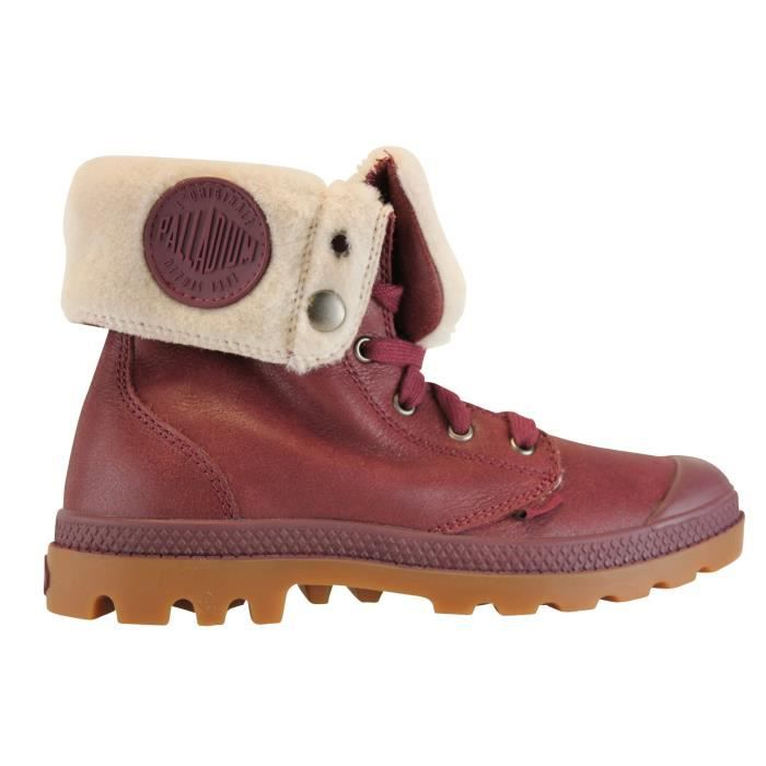 palladium baggy boots cuir femme rouge bordeaux achat vente bottine cdiscount. Black Bedroom Furniture Sets. Home Design Ideas