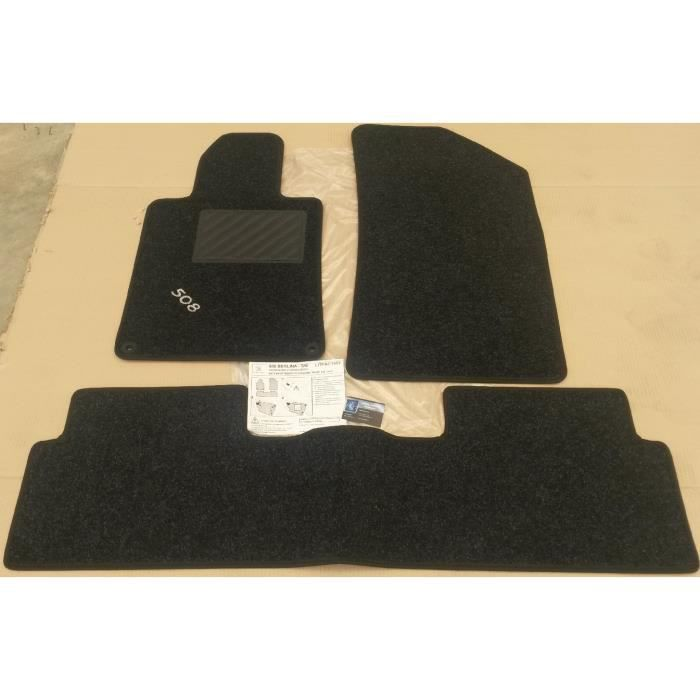 set tapis de sol voiture moquette originaux peugeot 508 berline sw 2 boutons achat vente. Black Bedroom Furniture Sets. Home Design Ideas