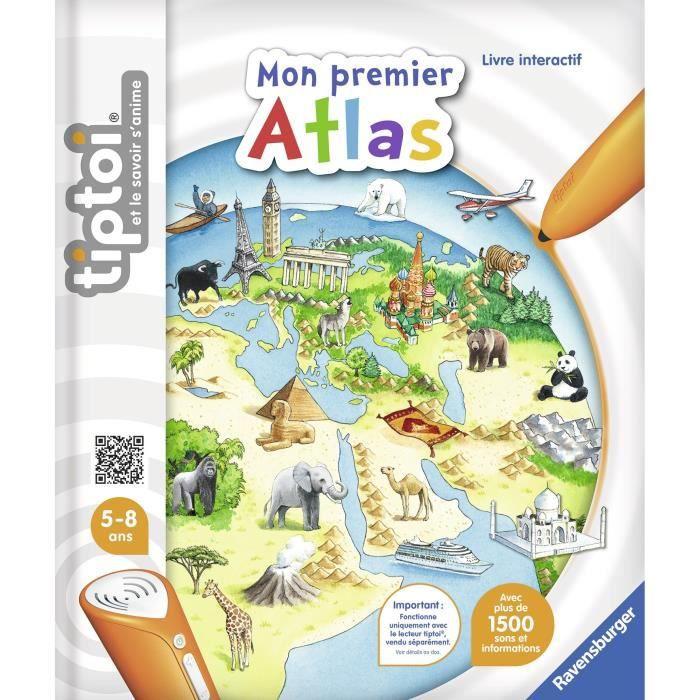 LIVRE INTERACTIF ENFANT TIPTOI Livre Interactif Mon premier Atlas Interact