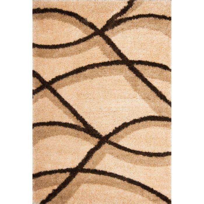 tapis poils long 120x170 beige achat vente tapis cdiscount. Black Bedroom Furniture Sets. Home Design Ideas