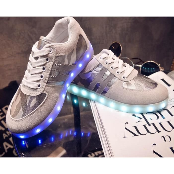 Unisexe USB Colorful Charging Loisirs Chaussures de skate