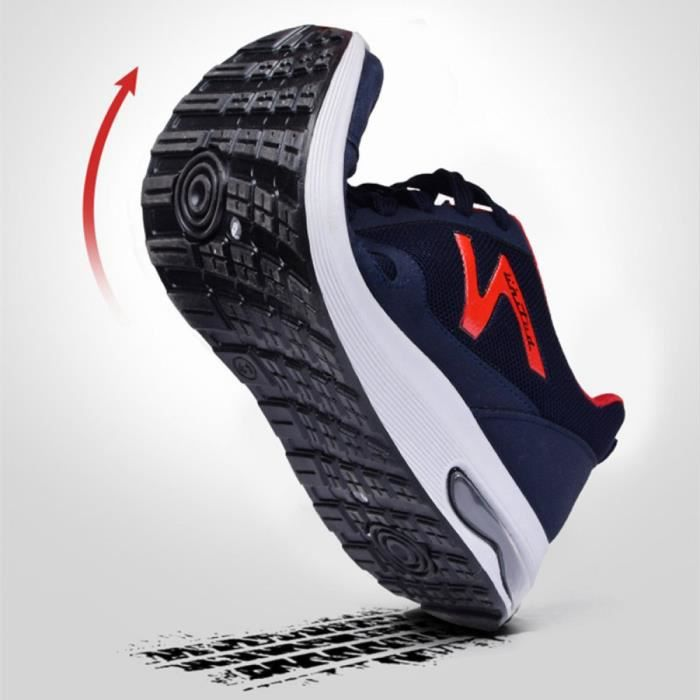 Air Baskets Mode Homme Chaussures Athlétique Multisports outdoor Sneakers Plein Air Casual Filets Shoes Lacets Bleu