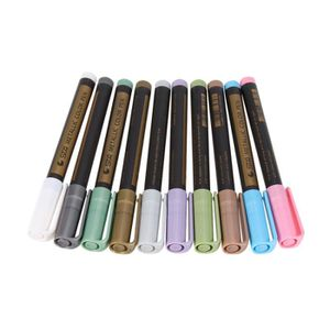 LINER - STRIPER 10 couleurs stylos marqueurs métalliques pour la p