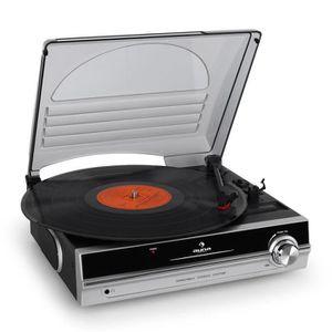 PLATINE DJ auna Platine Tourne Disque Vinyle Compacte avec Co
