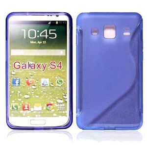 COQUE - BUMPER Coque TPU type S pour Samsung Galaxy s4 - violet