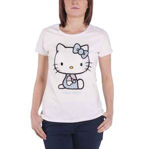 T-SHIRT Hello Kitty T Shirt Logo Embroidery Details nouvea